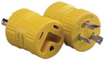 30 Amp Female x 20 Amp Locking Male 3-Prong Adapter