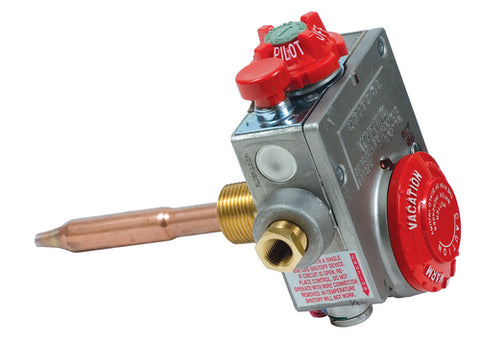 "Water Heater LP Gas Control Valve, Pilot, 3/8"" Inv Flare x 3/8"" FPT"