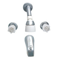 "Tub and Shower Faucet - 8"" Centers 2 Handle Style"
