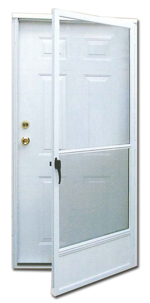 6 Panel Steel Combination Door For Mobile Manufactured