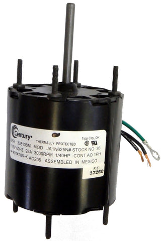 "3.3"" Vent Motor; 1/40 HP, 3000 RPM, CW, OAO"