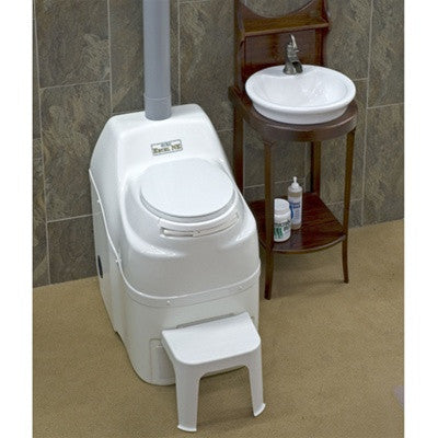 Composting Toilet - High Capacity, White