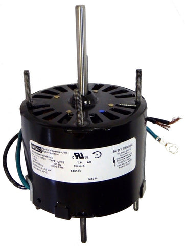 "3.3"" Vent Motor; 1/70 HP, 3000 RPM, CCW, OAO"