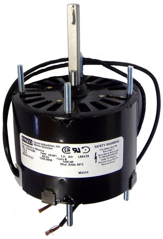 "3.3"" Vent Motor; 1/40 HP, 1550 RPM, CCW, OAO"