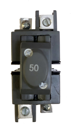 50 Amp Circuit Breaker, Pushmatic Bulldog, UBIP250, 2-Pole