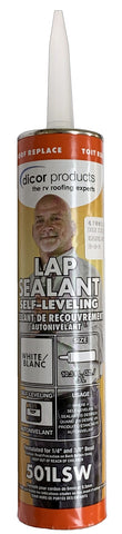 Caulk - White, Self Leveling Lap Sealant
