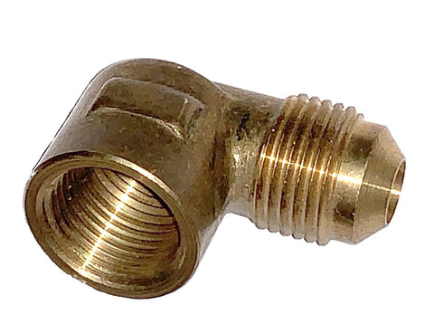 Flare Elbow 90 FL x FTP, Brass