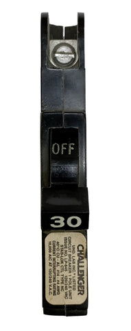 30 Amp Circuit Breaker, Federal Pacific Challenger FPE 030 Thin, Single Pole