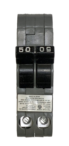 50 Amp Circuit Breaker, Federal Pacific UBIF-0250N Thin, 2-Pole