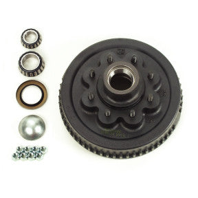 "Hub & Drum 7K - 8 Hole, 6.5"" Centers, Studded 1/2""-20"