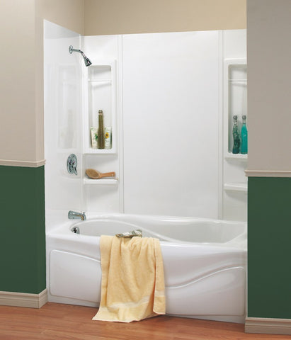 "Tub Surround, Adjusts from 48""-61"" x 30""-34"" x 59"", Plastic"