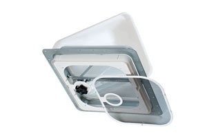 RV Roof Vent - Non-Powered, Ventline V2092SP-28, White Dome