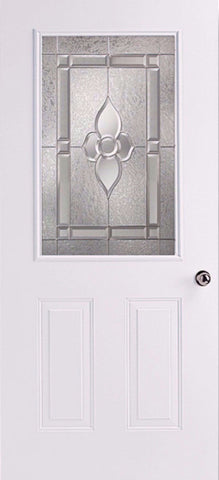 6 Panel Steel Entry Door w/ Dynasty Window