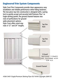 Vinyl Skirting Trim: Bottom Rail / Ground Channel - White - Sold by the piece