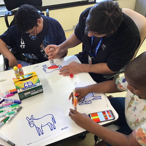 Kids at St. Mary's Children's Hospital Enjoy Art Supplies that Midas Donated