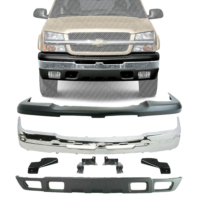 Front Bumper Kit For 2003 2006 Chevy Silverado 1500 Chevy Avalanche Auto Elementss