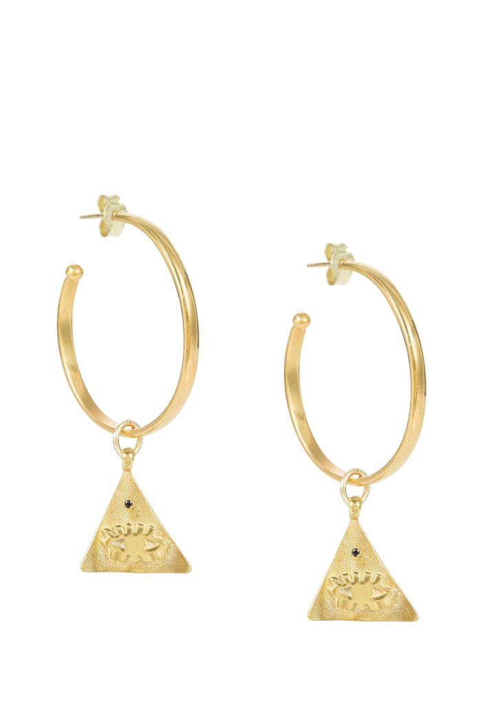 KRESSIDA PYRAMIS HOOP EARRINGS