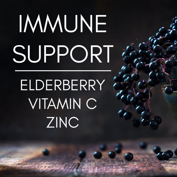 Elderberry, Vitamin C, & Zinc to Charge Up Your Immune System