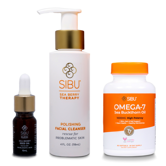 SIBU's 3-Step Sea Buckthorn Skin Care Routine for Problematic & Acne Prone Skin