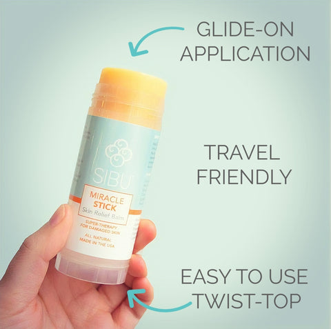 Sibu Miracle Stick - Glide on Application, Travel Friendly, Easy to Use Twist-Top