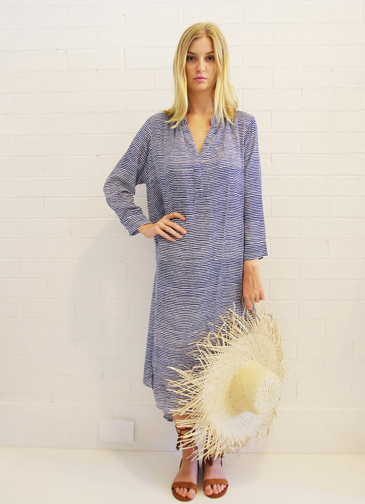 Oversized Shirt - St Barts Blue Stripe