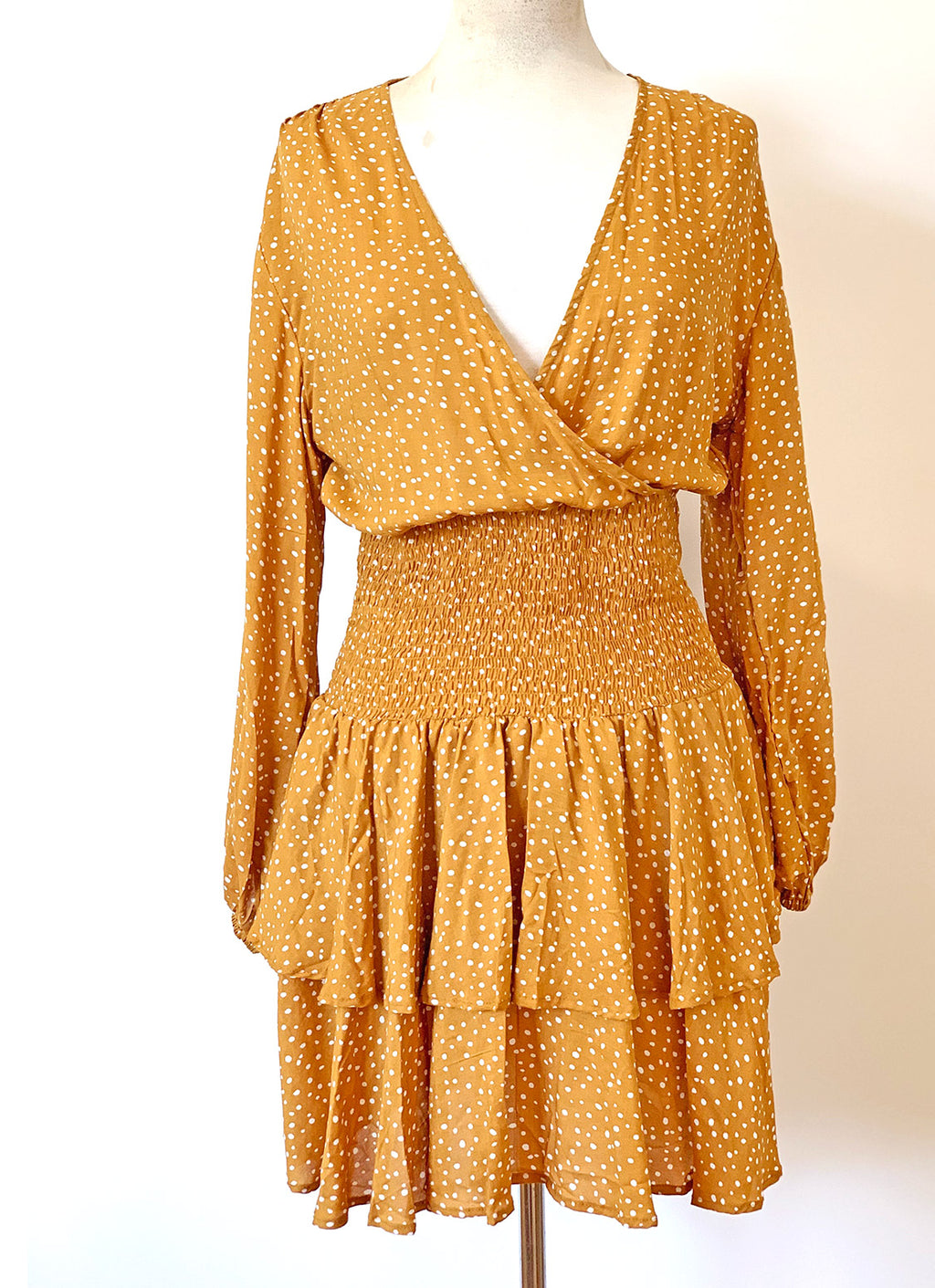 Bardot Dress - Tumeric
