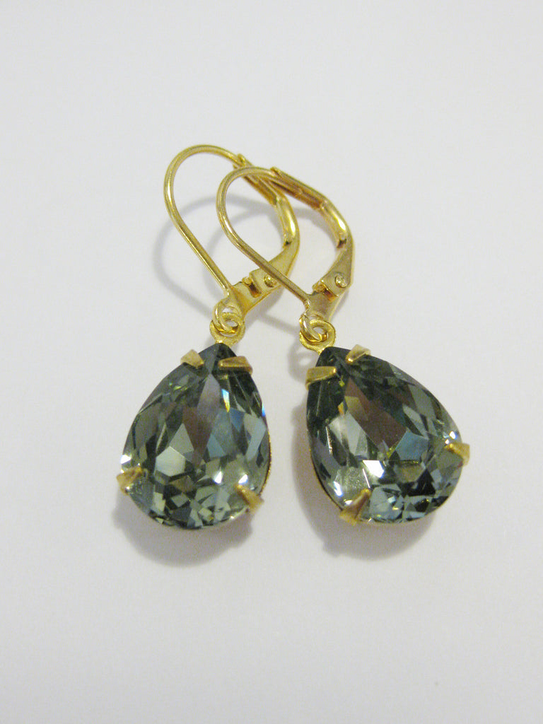 Mia Earring - Black diamond