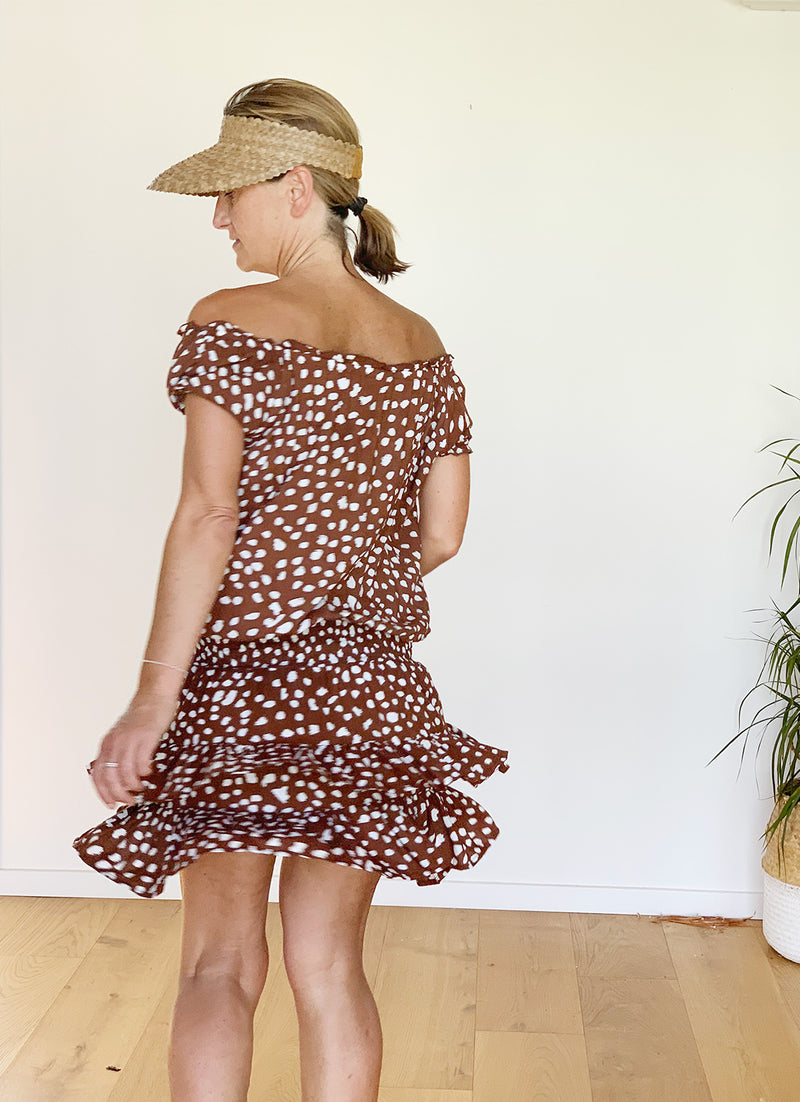 Fleur Day Dress - Chocolate