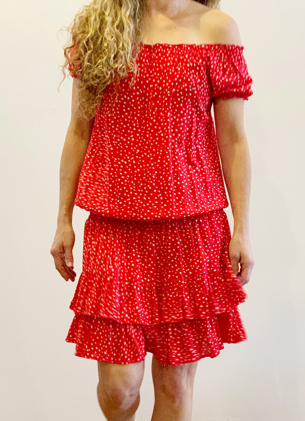 Fleur Day Dress - Ruby