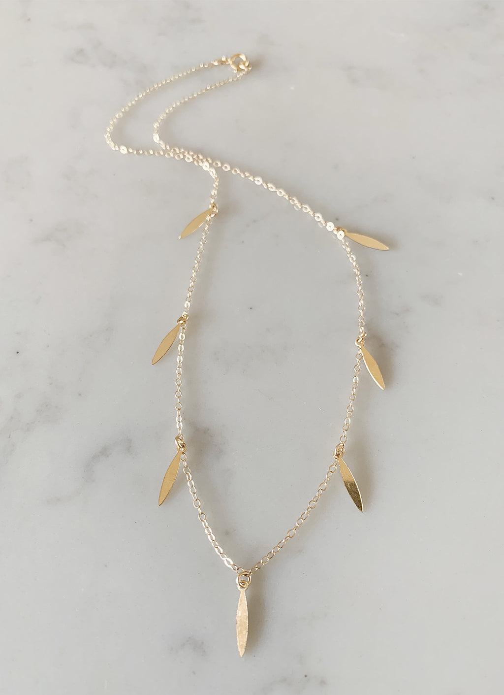 Gold-Filled Spears Necklace