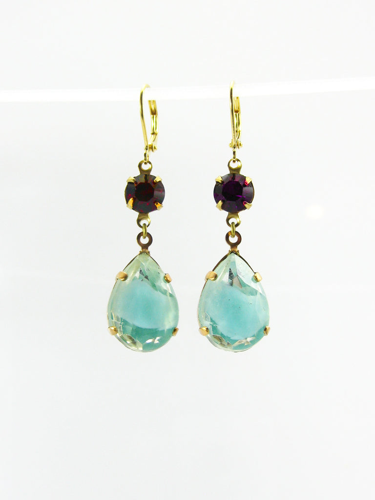 Vintage 1940's Czech Glass Earrings