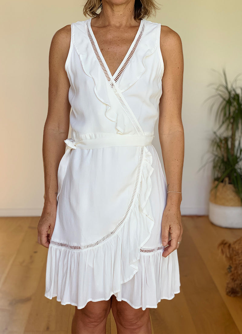 Lucia Wrap Dress - Cream