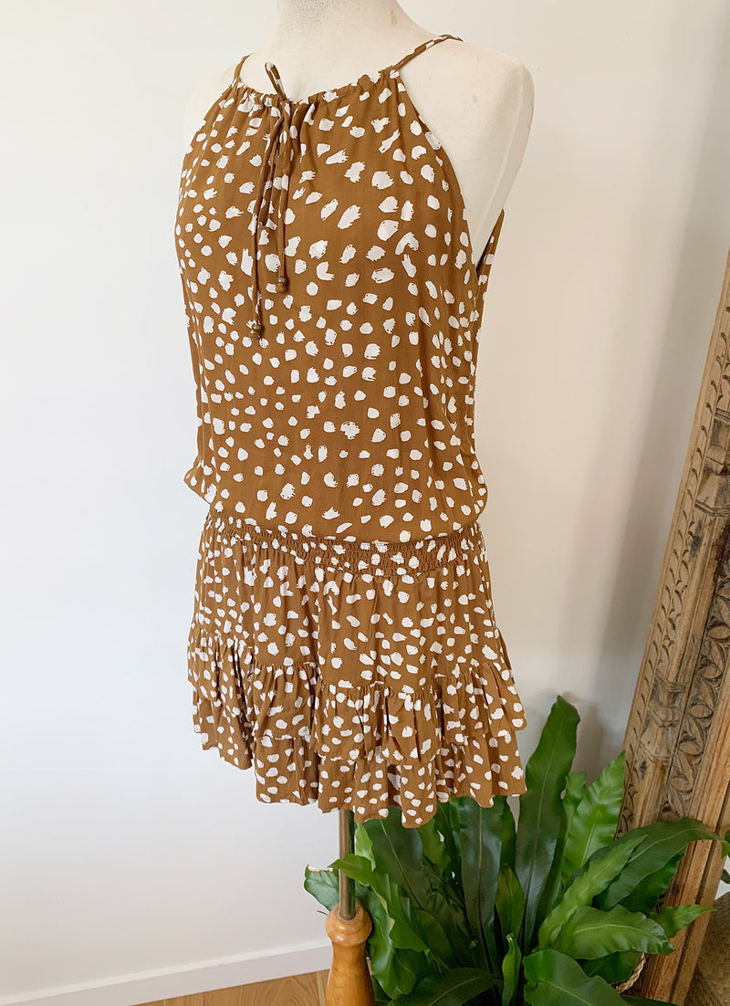 Mia Mini Dress - Cinnamon