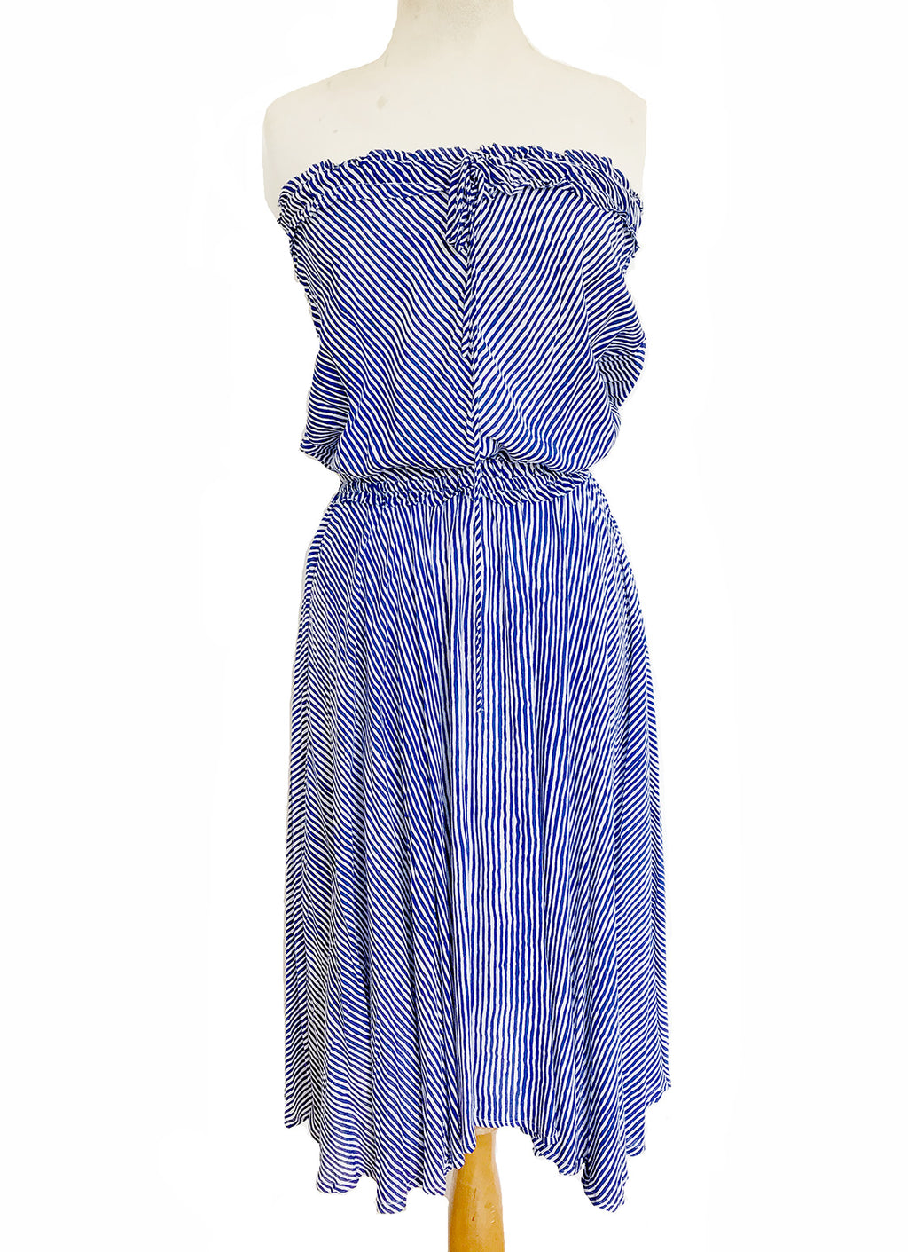 Riviera Dress - St Barts Blue Stripe