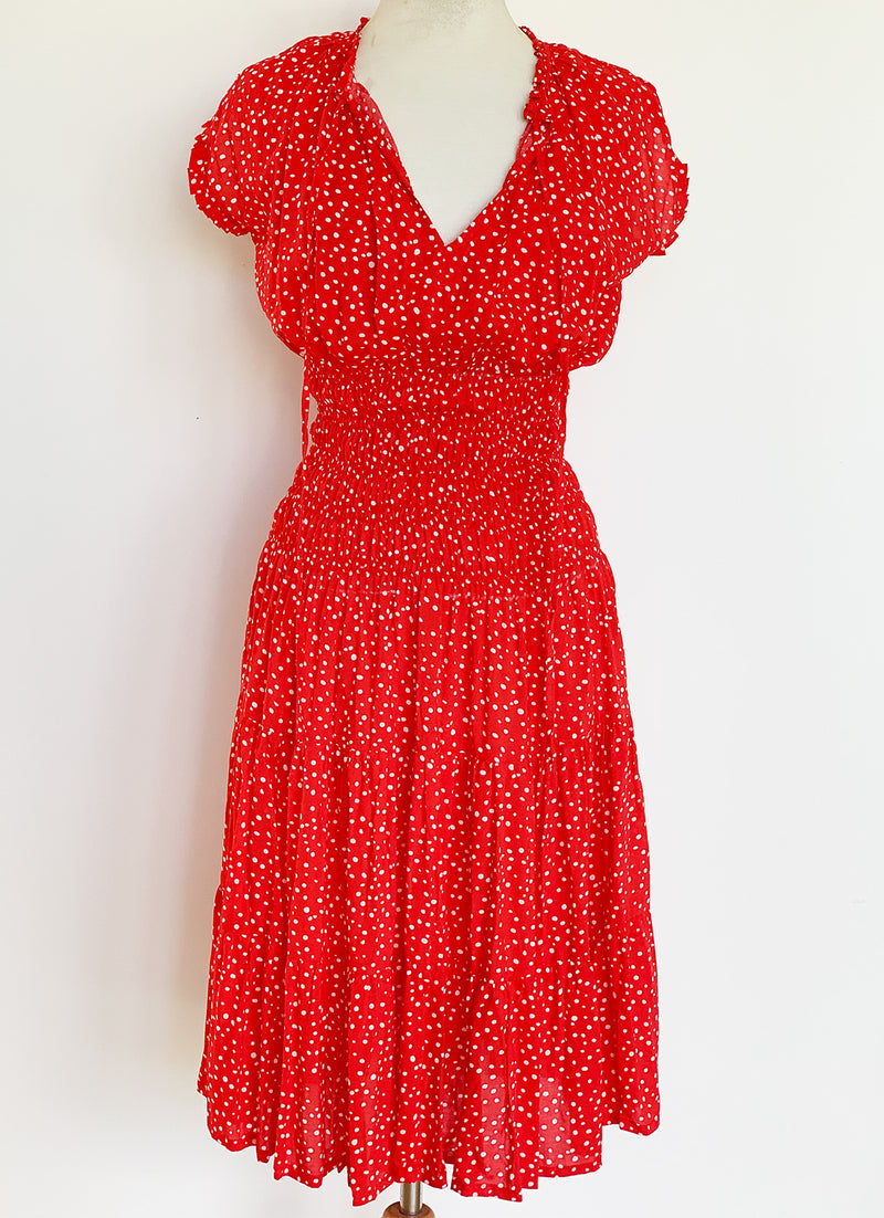 Sophia Dress - Ruby Dot