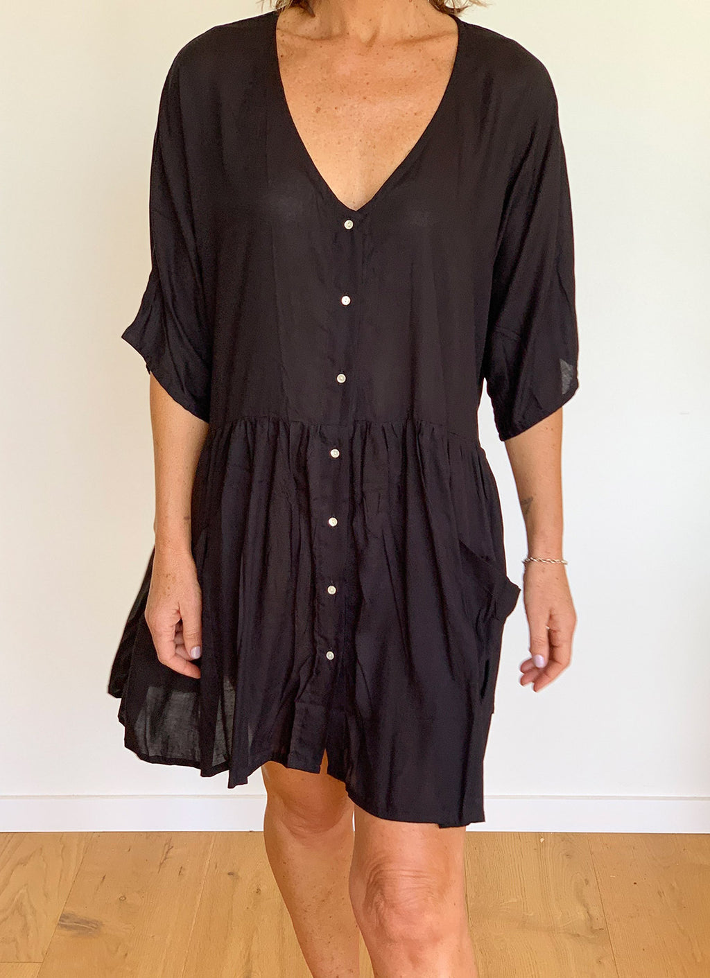 Talia Summer Dress - Black