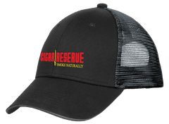 Cigar Reserve Black Snap-Back Mesh Cap