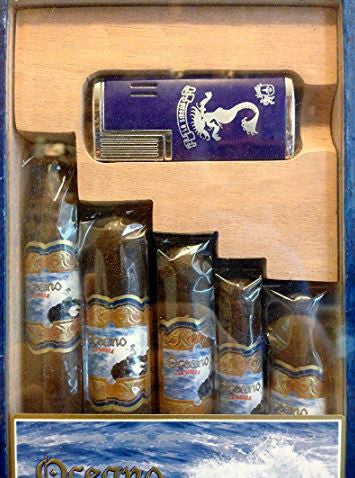 La Sirena Oceano Sampler Gift Pack  - 5 Cigars & Colibre Lighter