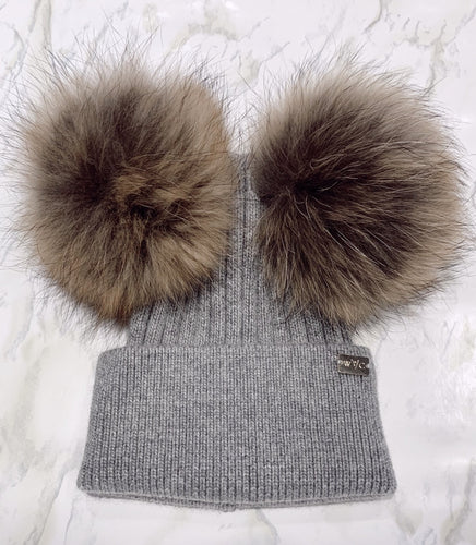 Ash Grey Double Pom - Royal Wool