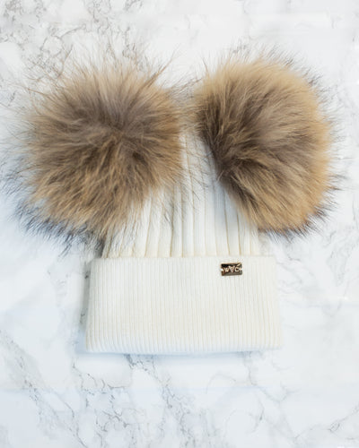 Winter White Double Pom - Royal Wool