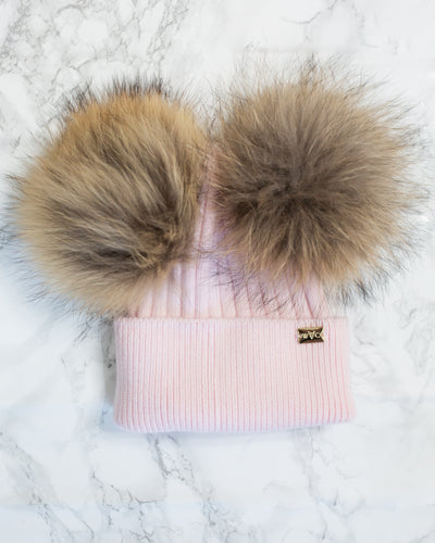 Blush Double Pom - Royal Wool