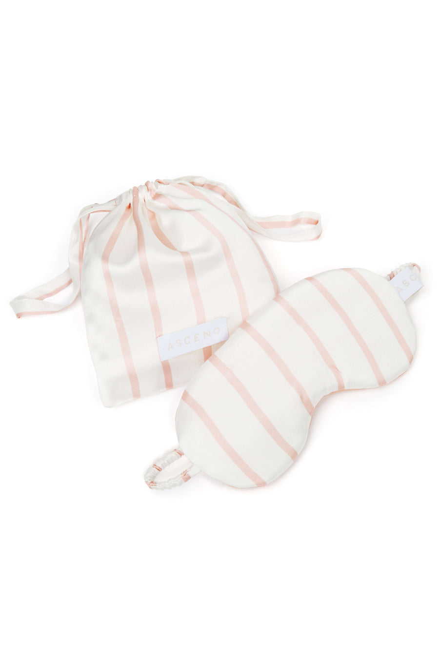 Blush Stripe Silk Eye Mask