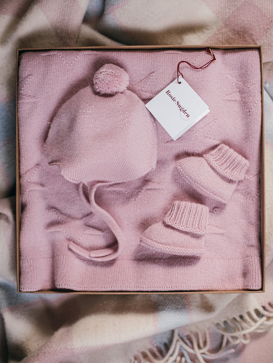 Cashmere Baby Set in Pink