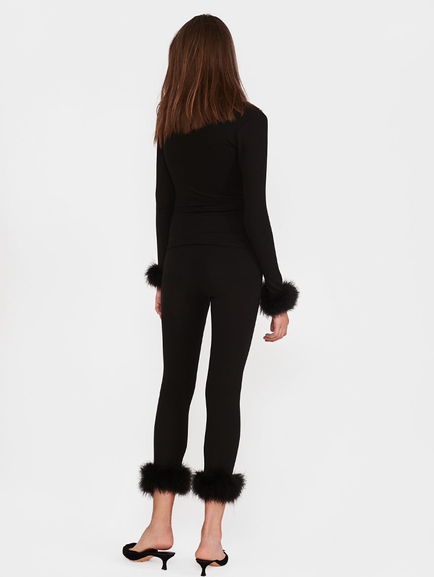 The Weekend Chic Set with Leggings in Black