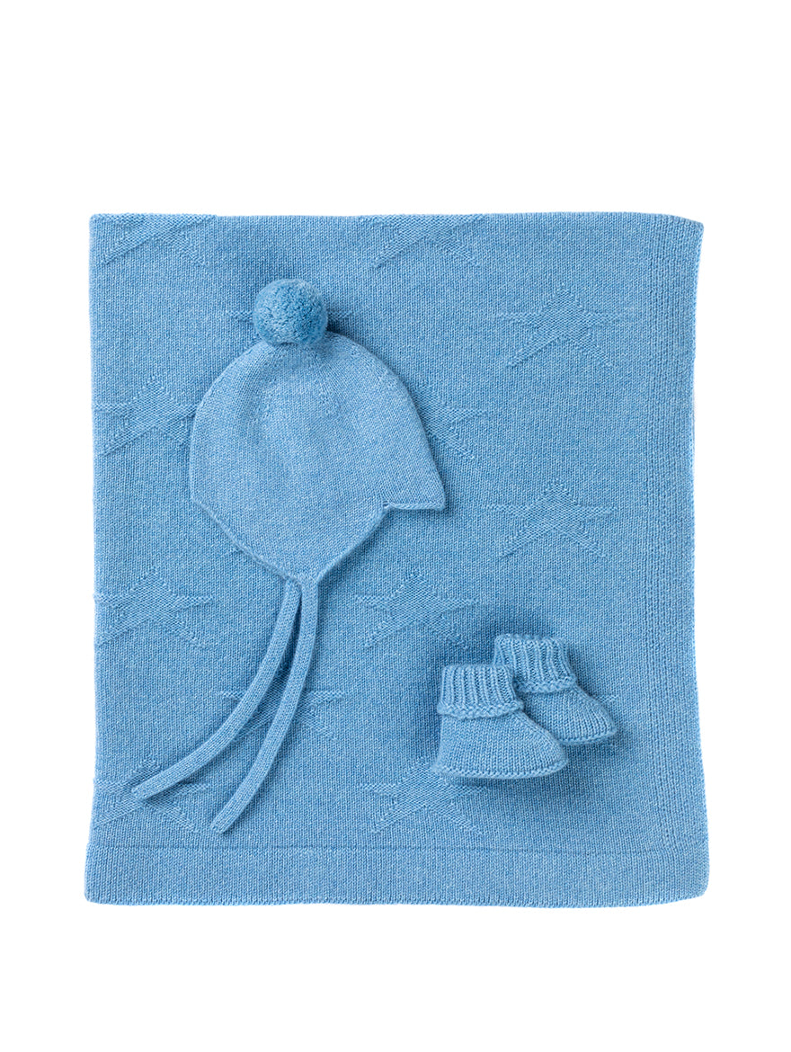 Cashmere Baby Set in Blue