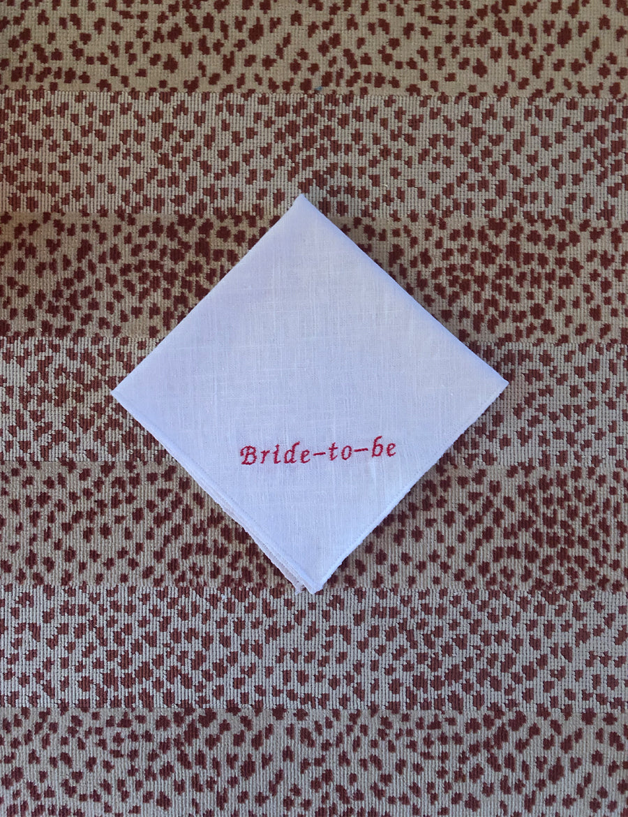 Bride-to-be Handkerchief