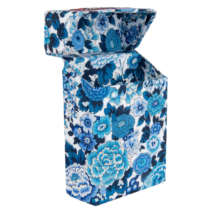 Tree Peony Blue & White Cigarette Case