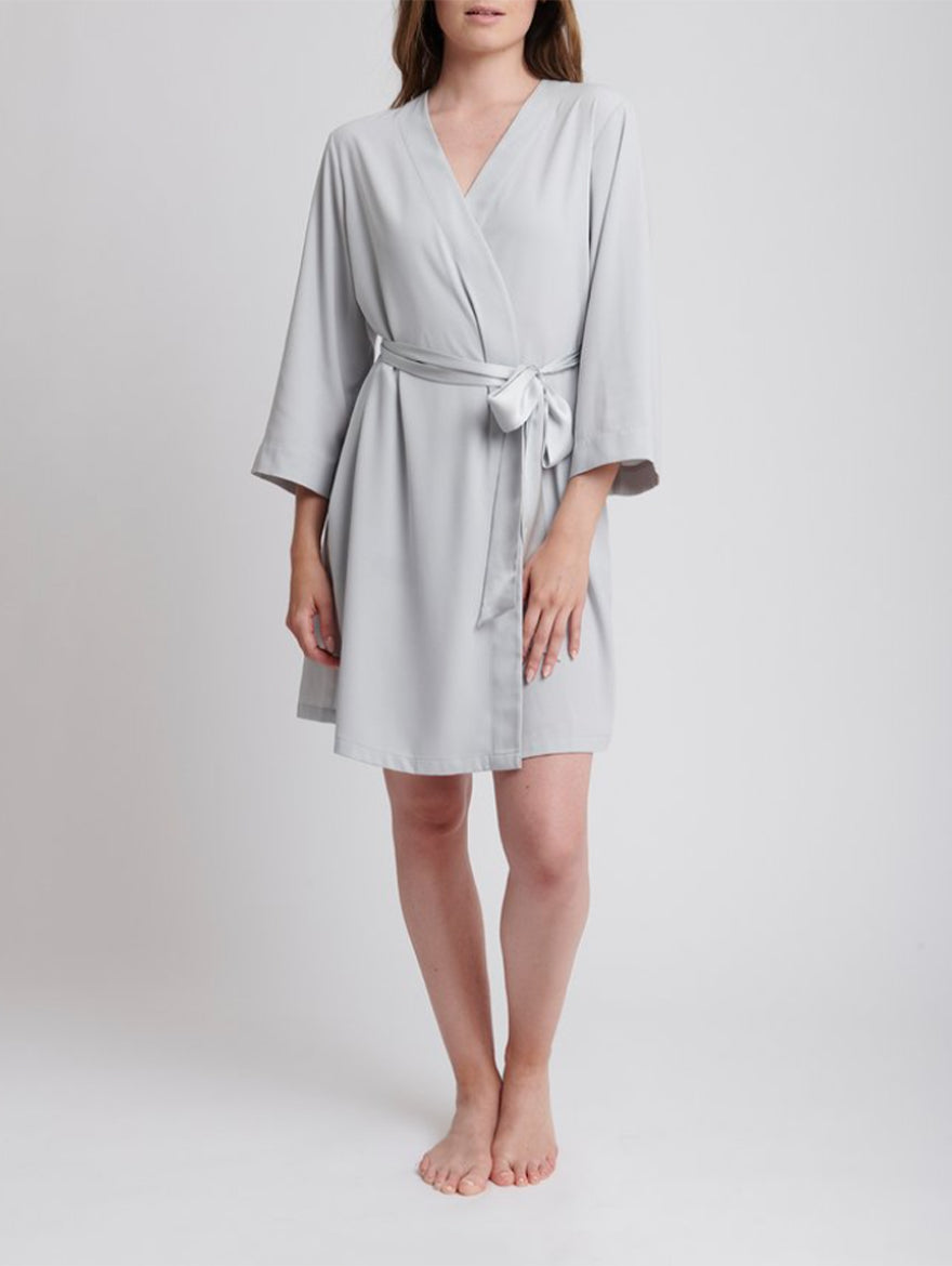 Soft Grey Dressing Gown