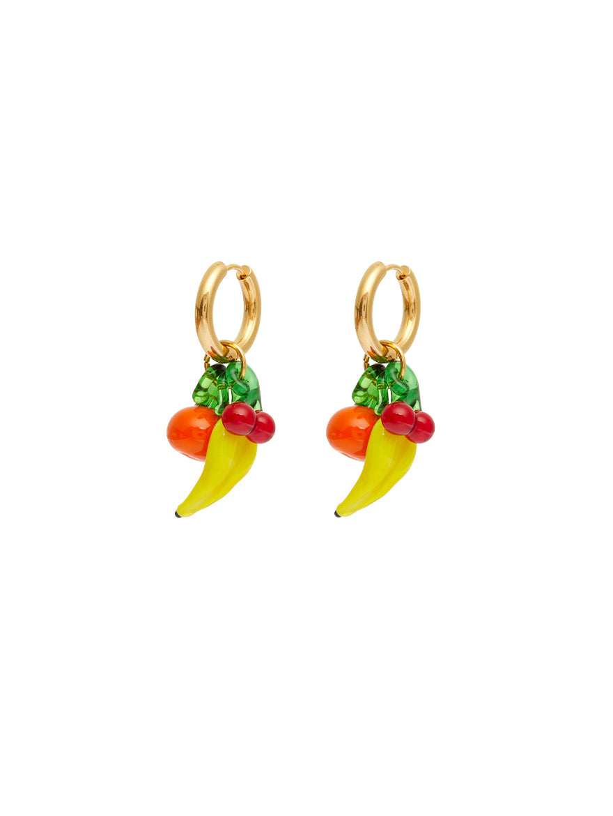 Triple Glass Grocery Earrings