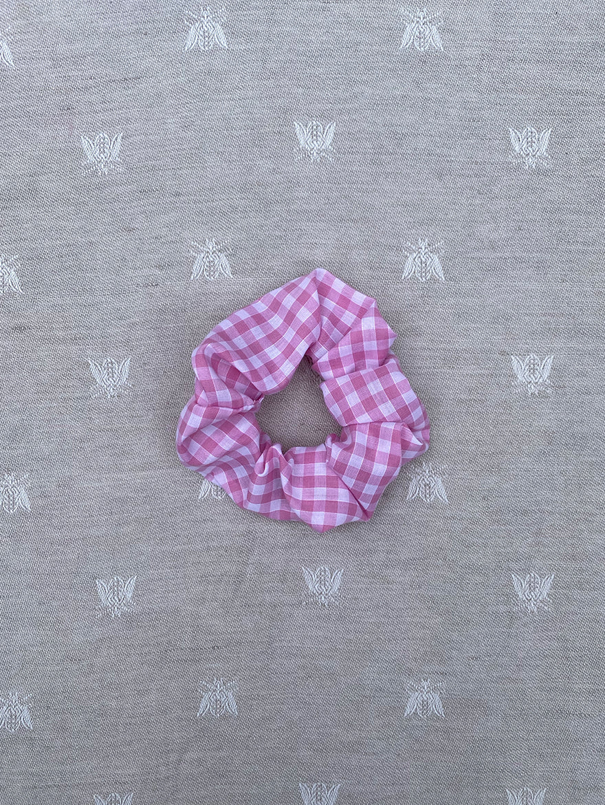 Light Pink Gingham Scrunchie